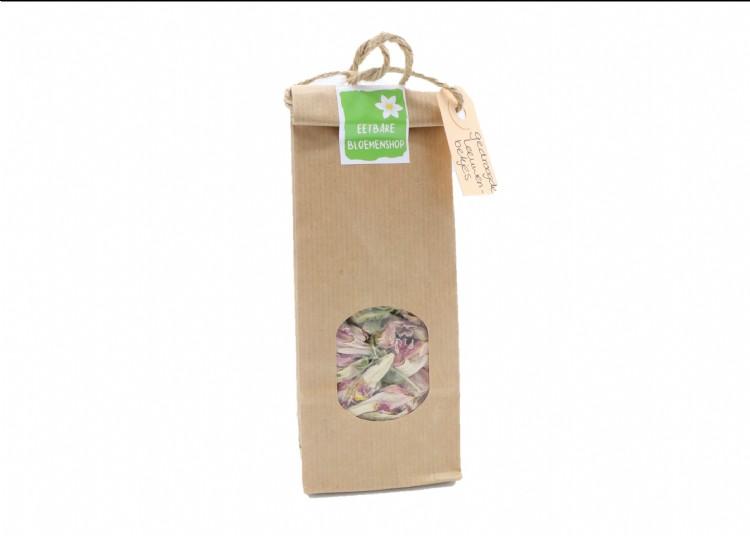 Zakje gedroogde roze Leeuwenbekjes